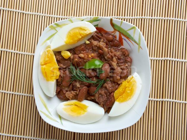 Edény főtt bab felszolgált zöldség olaj Stock fotó © fanfo