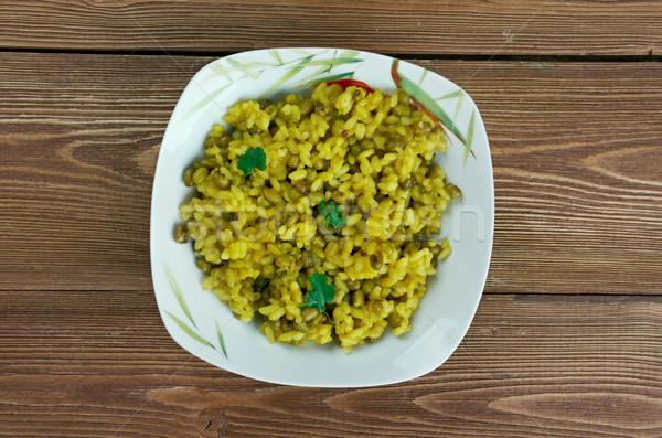 Tradicional indiano prato tempero feijão ornamento Foto stock © fanfo