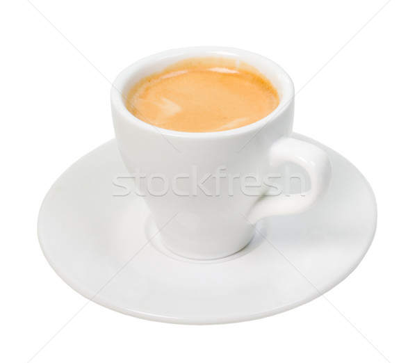 Photo stock: Espresso · café · tasse · blanche · isolé · chemin