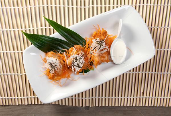 Pieczony kurczak japoński kuchnia restauracji kurczaka Zdjęcia stock © fanfo