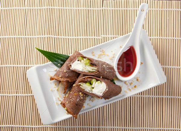 десерта маки суши шоколадом катиться различный Сток-фото © fanfo