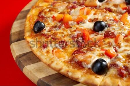 Pizza calabresa italiano cozinha estúdio restaurante Foto stock © fanfo
