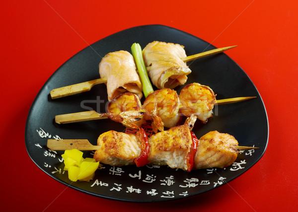 Japanese skewered  seafoods Yakitori   Stock photo © fanfo