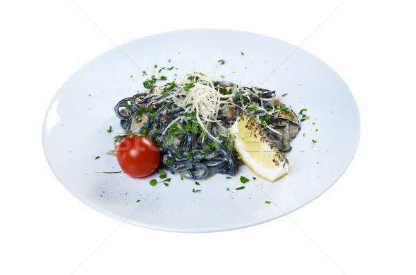 Spaghetti al Nero di Seppia Stock photo © fanfo