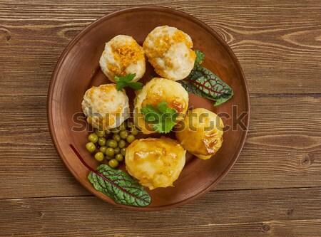 Gebakken voedsel ontbijt salade hot Stockfoto © fanfo