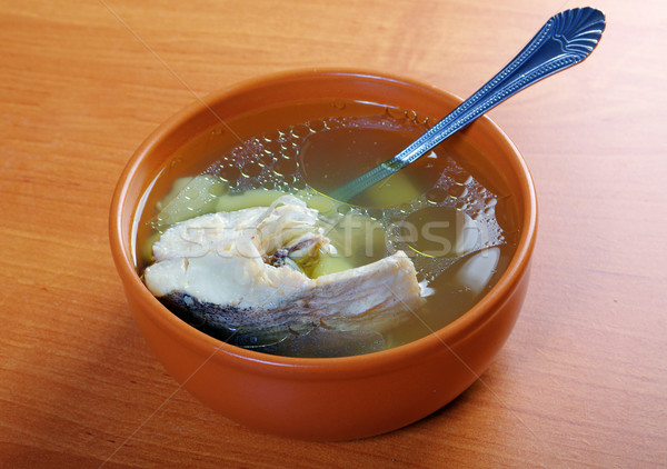 Ukhal fish soup. Stock photo © fanfo