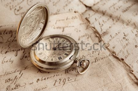 Old-time watch closeup Stock photo © fanfo