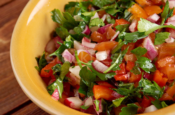 Pico de gallo Stock photo © fanfo