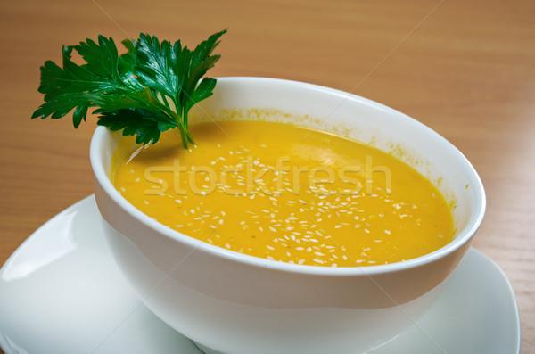 кегли сквош суп продовольствие еды Сток-фото © fanfo