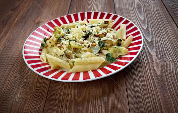 итальянский пасты Сыр из козьего молока овощей продовольствие обед Сток-фото © fanfo