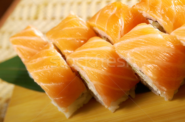Philadelphia classic. Japanese sushi Stock photo © fanfo