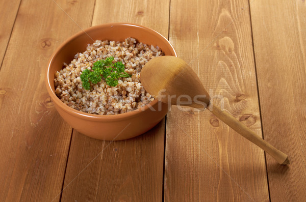 Buckwheat porridge Stock photo © fanfo