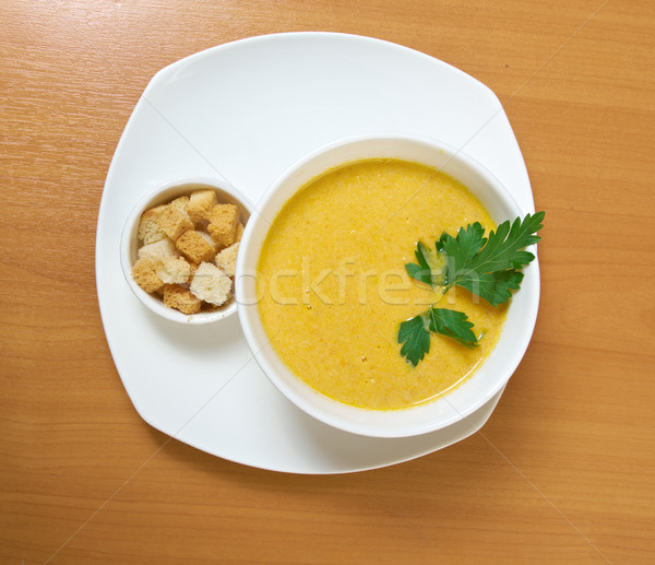Homemade split pea soup Stock photo © fanfo