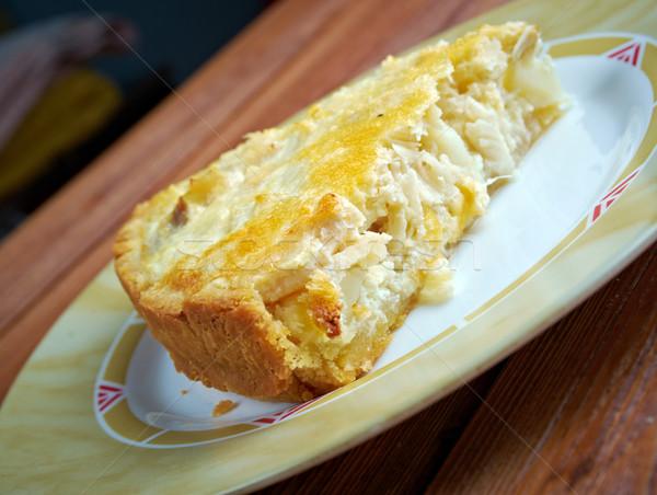quiche with cod Stock photo © fanfo