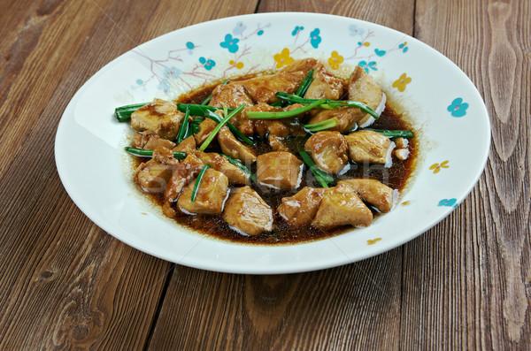 Frango americano estilo comida chinesa frito Foto stock © fanfo