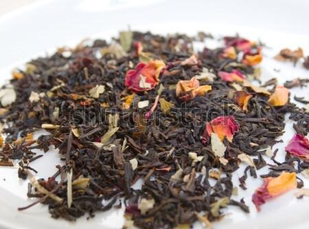 высушите зеленый чай лепесток цвета женьшень студию Сток-фото © fanfo