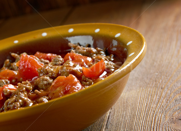 Prato tradicional carne legumes tabela carne Foto stock © fanfo