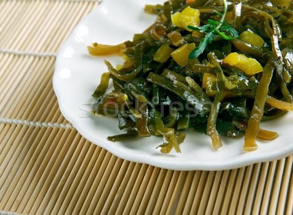 Salade zeewier voedsel japans sushi Stockfoto © fanfo