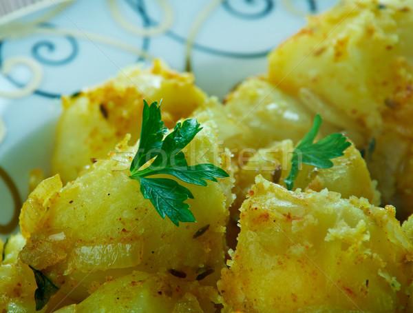 Kömény mag krumpli keleti indiai konyha vacsora Stock fotó © fanfo