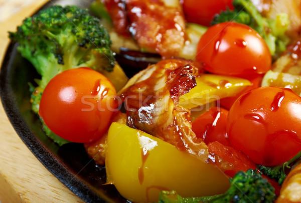 угорь японская еда рыбы азиатских Японский Сток-фото © fanfo