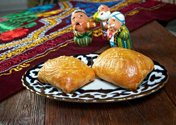 traditional eastern food samsa. Stock photo © fanfo