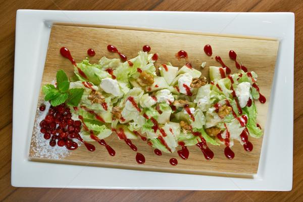 Salata armut yaprak meyve yeşil armut Stok fotoğraf © fanfo