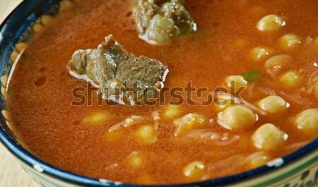 норвежский суп традиционный продовольствие еды желтый Сток-фото © fanfo