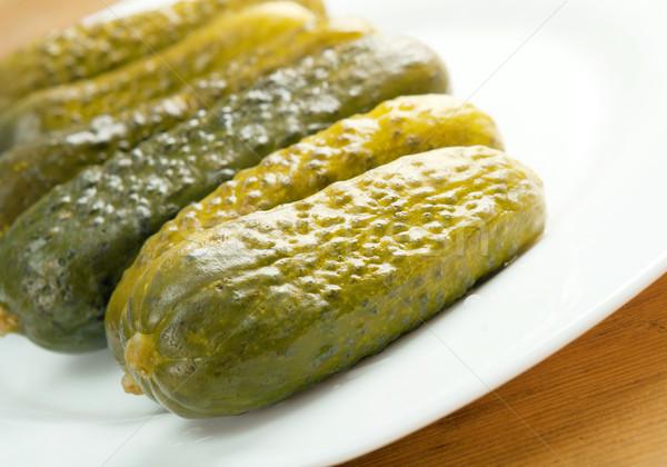 Augurken ondiep voedsel groene Stockfoto © fanfo