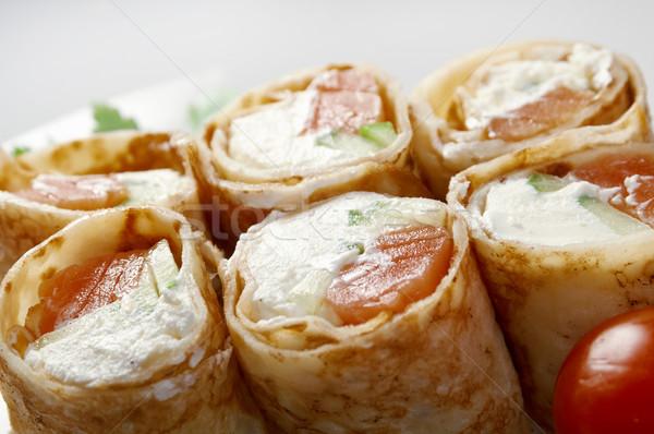 Maki sushi rotolare crema formaggio Foto d'archivio © fanfo