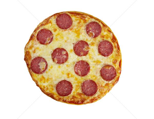 Fatto in casa pizza formaggio pomodoro veloce italiana Foto d'archivio © fanfo