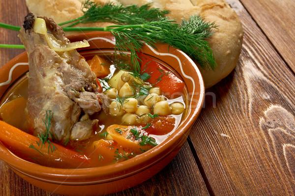 Hagyományos leves konyha tányér zöldségek szakács Stock fotó © fanfo