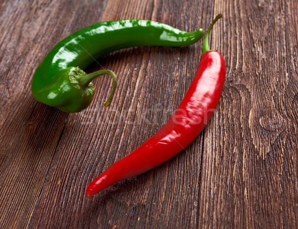 Red and green Hot Chili Peppers  Stock photo © fanfo
