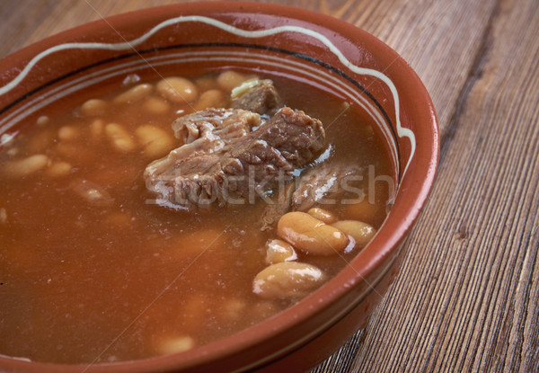 Sopa de frijol alimentos carne comer vegetales especias Foto stock © fanfo