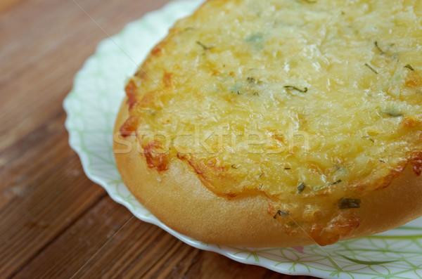 Sütemény túró orosz étel torta kenyér Stock fotó © fanfo