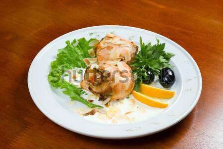 Italian kitchen.meat loafs from salmon Stock photo © fanfo