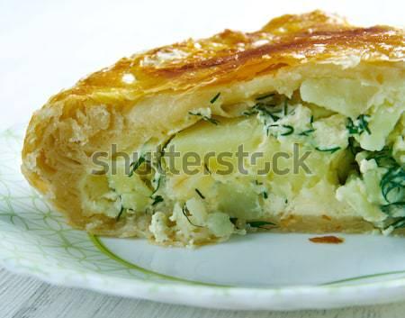 Lasaña diseno queso cena pasta cocina Foto stock © fanfo