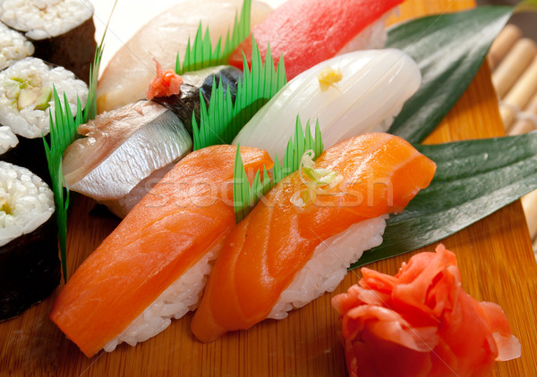 Japonais sushis rouler fumé poissons traditionnel Photo stock © fanfo