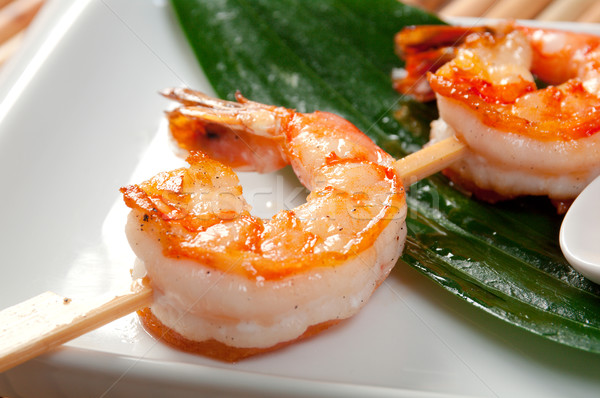 Japanese skewered  Jumbo Shrimp Stock photo © fanfo