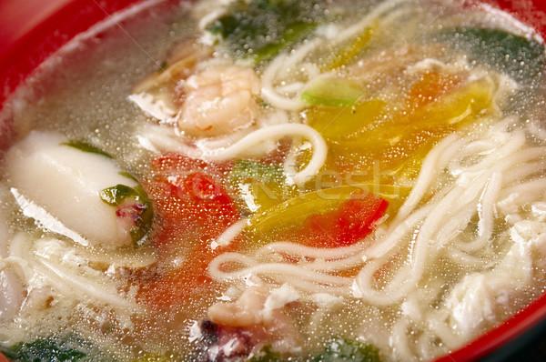 Stok fotoğraf: Çin · geleneksel · deniz · ürünleri · çorba · gıda