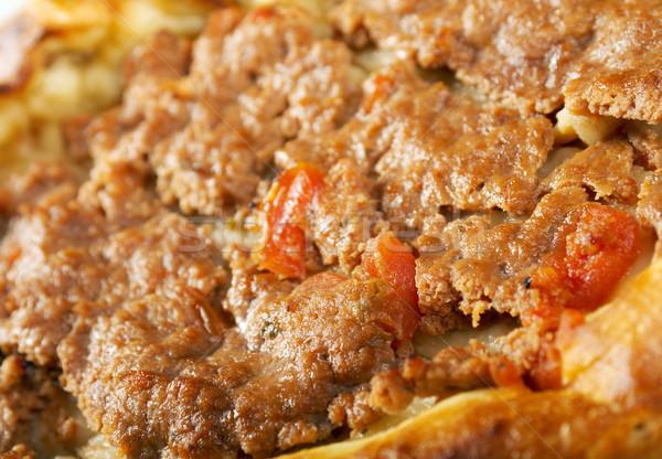 Pita kenyér hús étterem tányér szendvics Stock fotó © fanfo