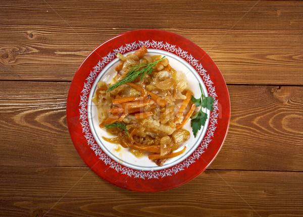 Pesce tipico cucina mediterranea marinato alimentare Foto d'archivio © fanfo