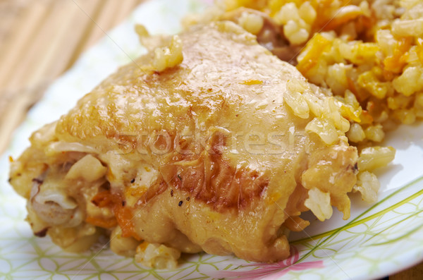 curry rice with chicken Stock photo © fanfo