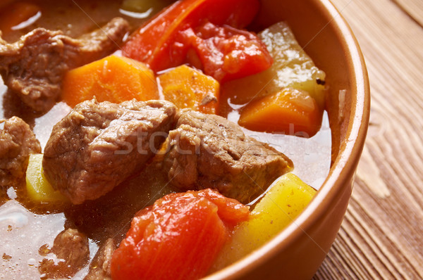 Old fashioned beef stew Stock photo © fanfo