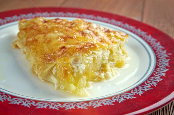 Cozinha francesa abobrinha queijo comida café da manhã vegetal Foto stock © fanfo