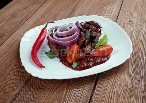 Traditionnel mexican porc plat plaque viande Photo stock © fanfo