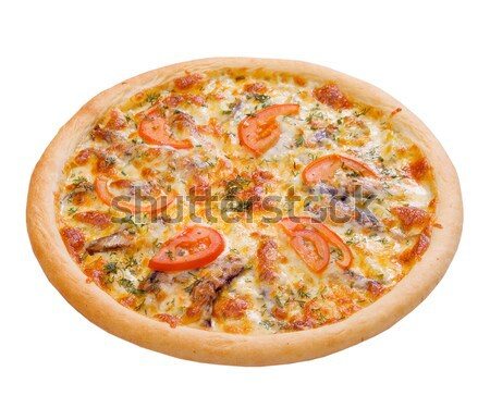 Pizza and italian kitchen. Studio. ,Close-up.sprats Stock photo © fanfo