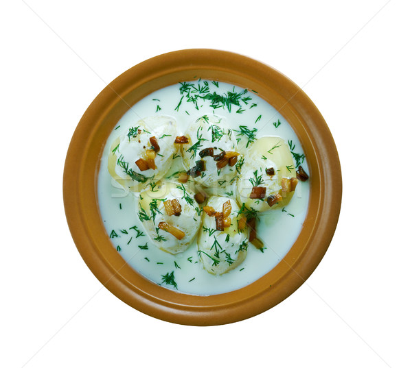 milk product guslyanka with potatoes Stock photo © fanfo