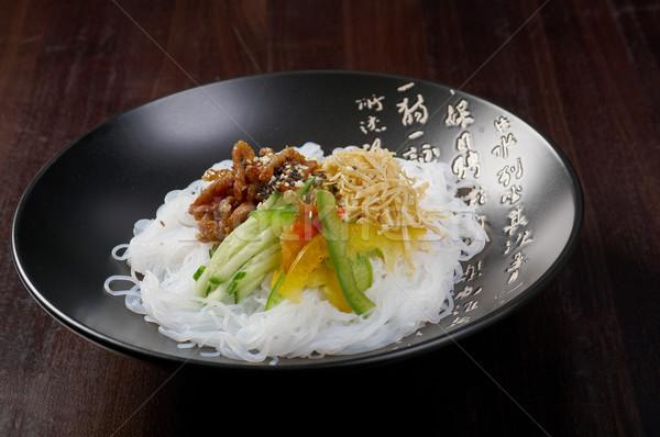 japanese rice noodles pork Stock photo © fanfo