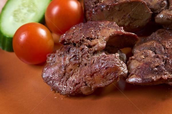 Pollo placa vegetales comida nadie orgánico Foto stock © fanfo