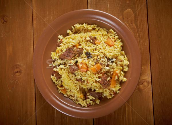Stock fotó: Hagyományos · távolkeleti · hús · bors · sárgarépa · zöldség